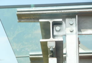 Überdachung Glas-Stahl